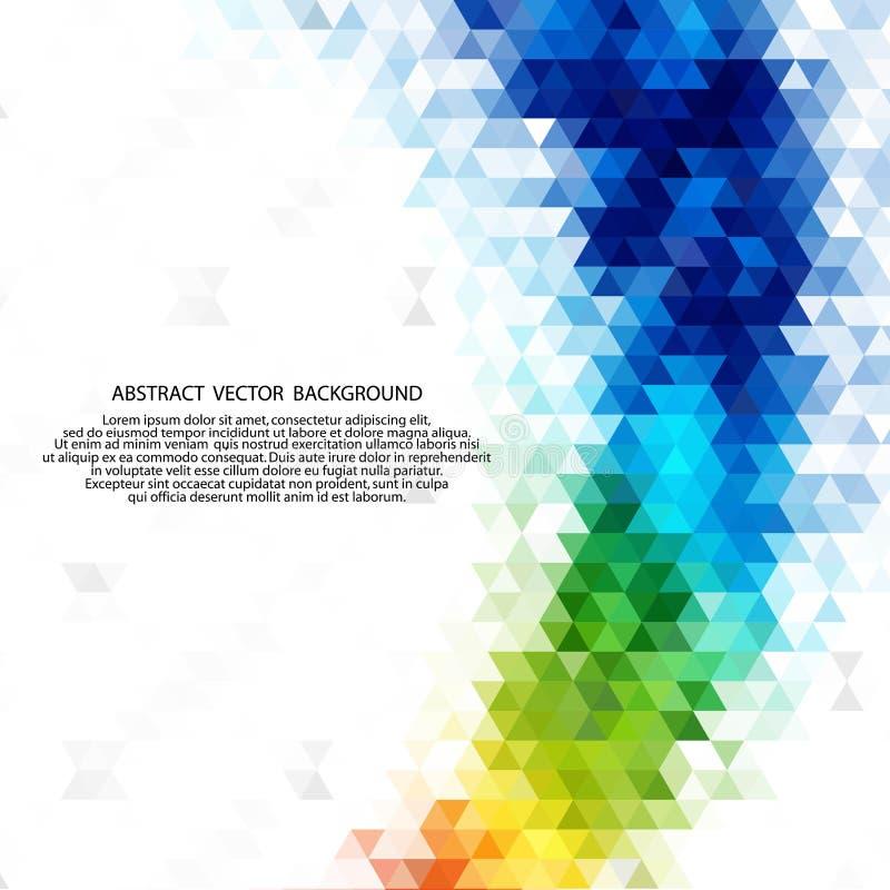 Abstracte geometrische achtergrond in de vorm van driehoeken Abstracte achtergrond, technologie-achtergrond Goed voor reclame stock illustratie