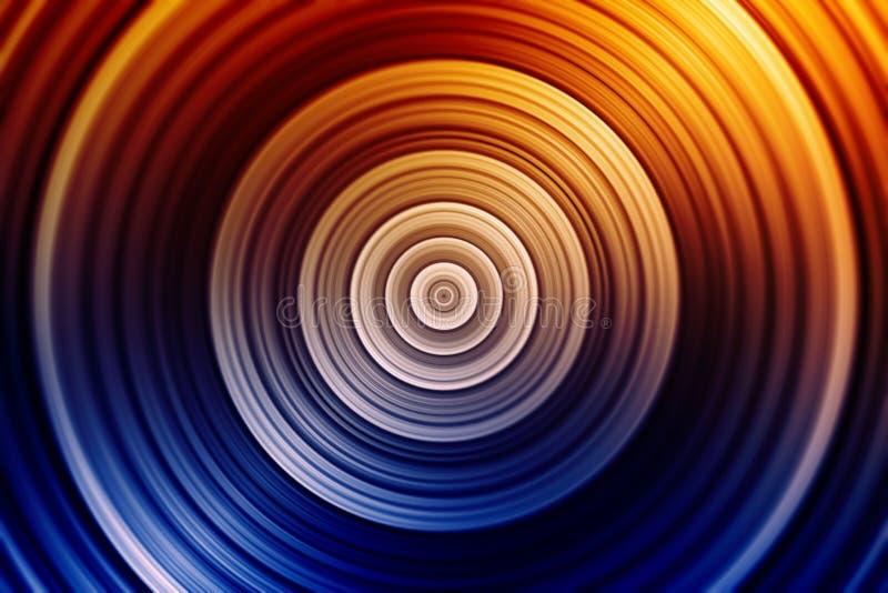 Kleurrijke concentrische cirkels royalty-vrije illustratie