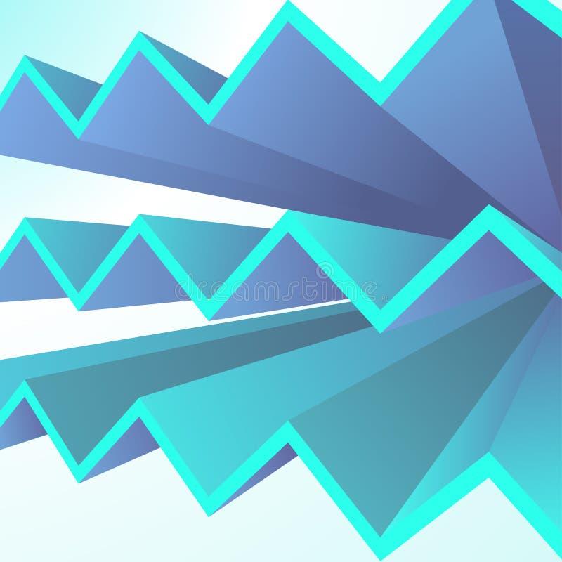 Abstracte geometrische achtergrond met blauwe driehoeksvormen vector illustratie