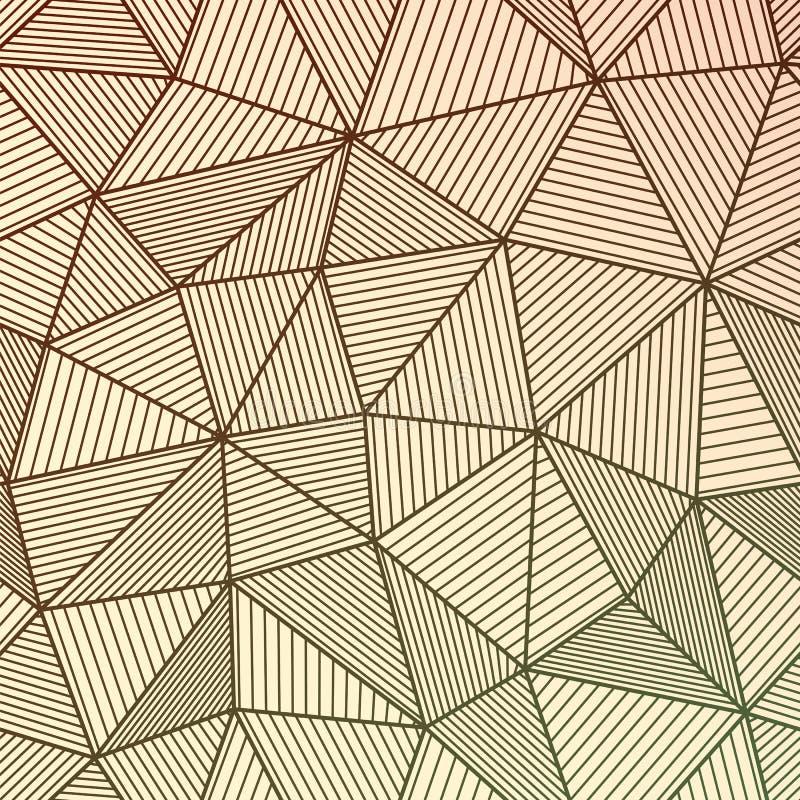 Abstracte geometrische achtergrond met in de schaduw gestelde driehoeken Materieel DE stock illustratie