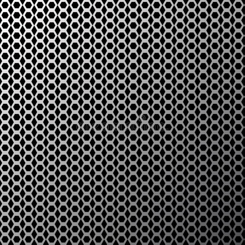 Abstracte geometrische achtergrond met donkergrijze zeshoeken Vector stock illustratie