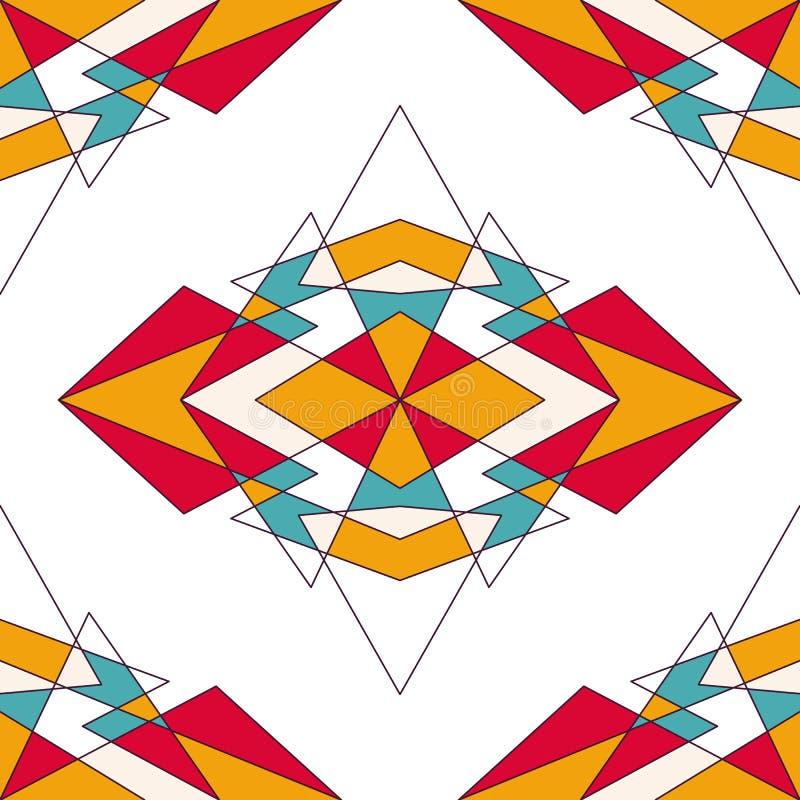 Abstracte geometrische achtergrond met driehoeken stock foto's