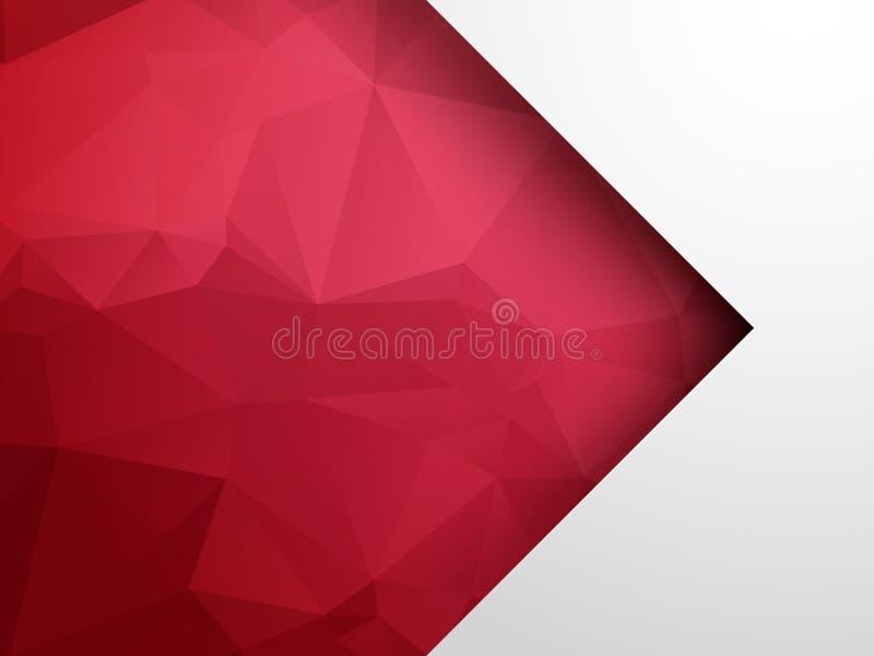Abstracte geometrische achtergrond met rode pijl stock illustratie