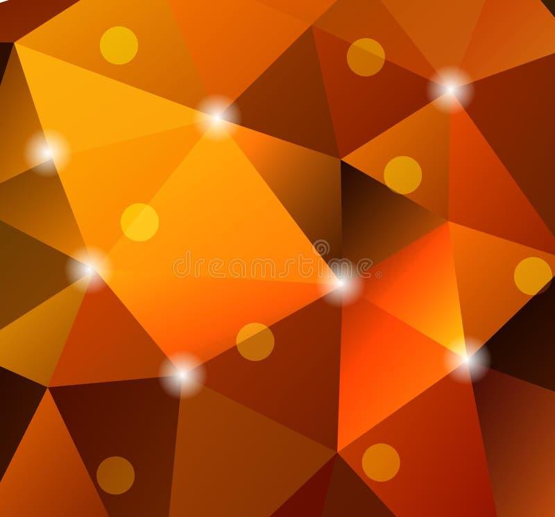 Abstracte geometrische achtergrond met veelhoeken vector illustratie
