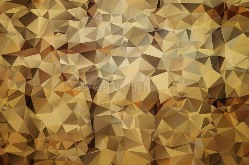 Abstracte geometrische achtergrond met veelhoeken stock illustratie
