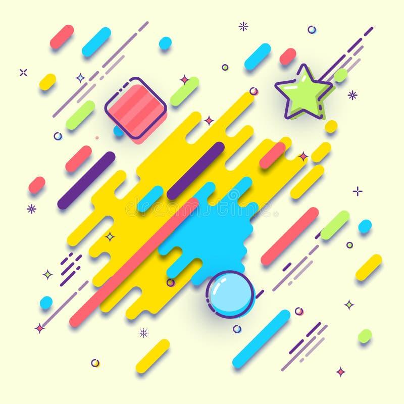 Abstracte geometrische achtergrond met vlakke ontwerpelementen Vectorontwerp van dekking, brochure of vlieger stock illustratie