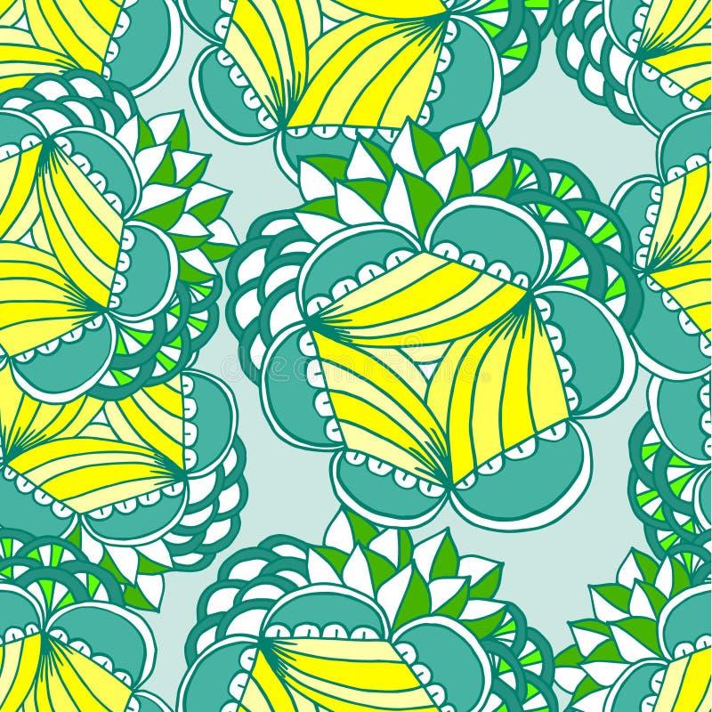 Abstracte geometrische achtergrond, naadloze bloemen stock illustratie