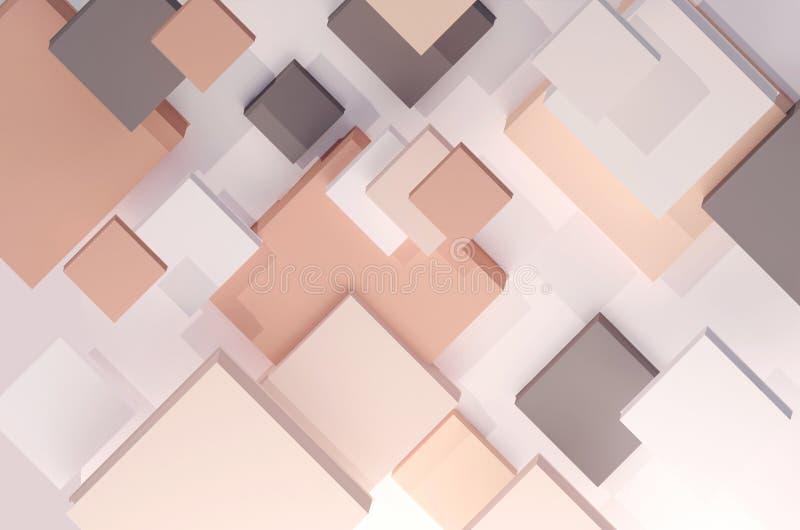 Abstracte geometrische achtergrond in pastelkleuren vector illustratie