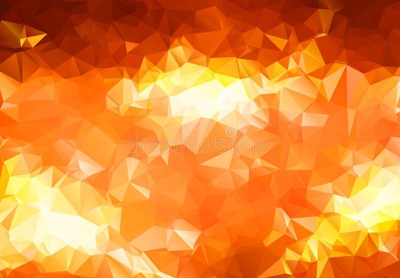 Abstracte geometrische achtergrond van driehoekige veelhoeken Retro heldere in patroon van de mozaïekdriehoek voor Web, bedrijfsm vector illustratie