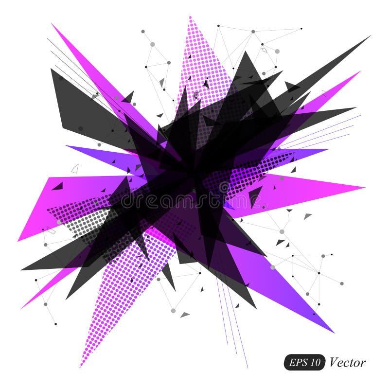 Abstracte geometrische driehoeks moderne achtergrond Abstracte Explosie royalty-vrije stock afbeelding