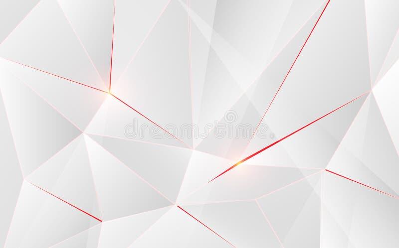Abstracte geometrische driehoeksvorm met lichte gloed op achtergrond royalty-vrije illustratie