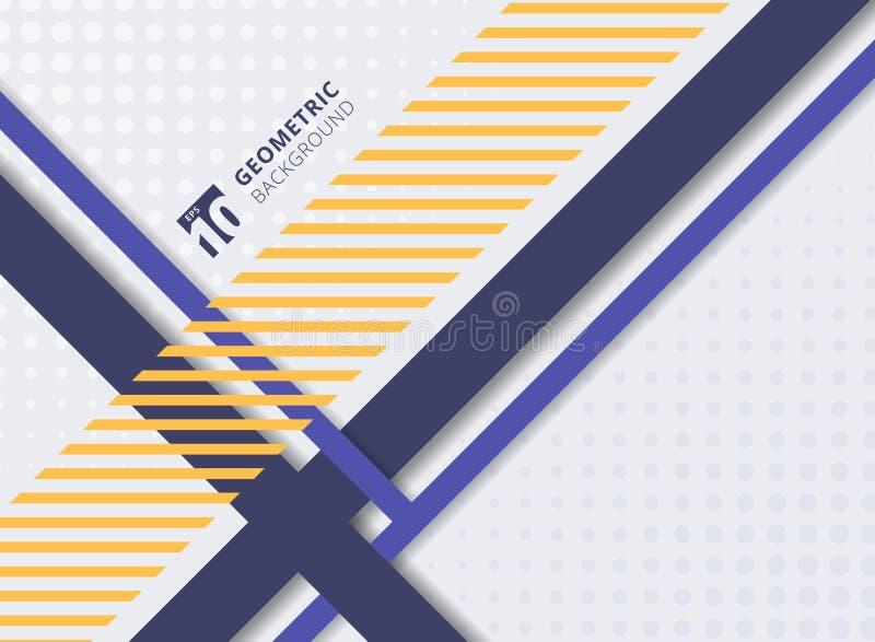 Abstracte geometrische en halftone strepen en de vormen van het lijnenpatroon vector illustratie