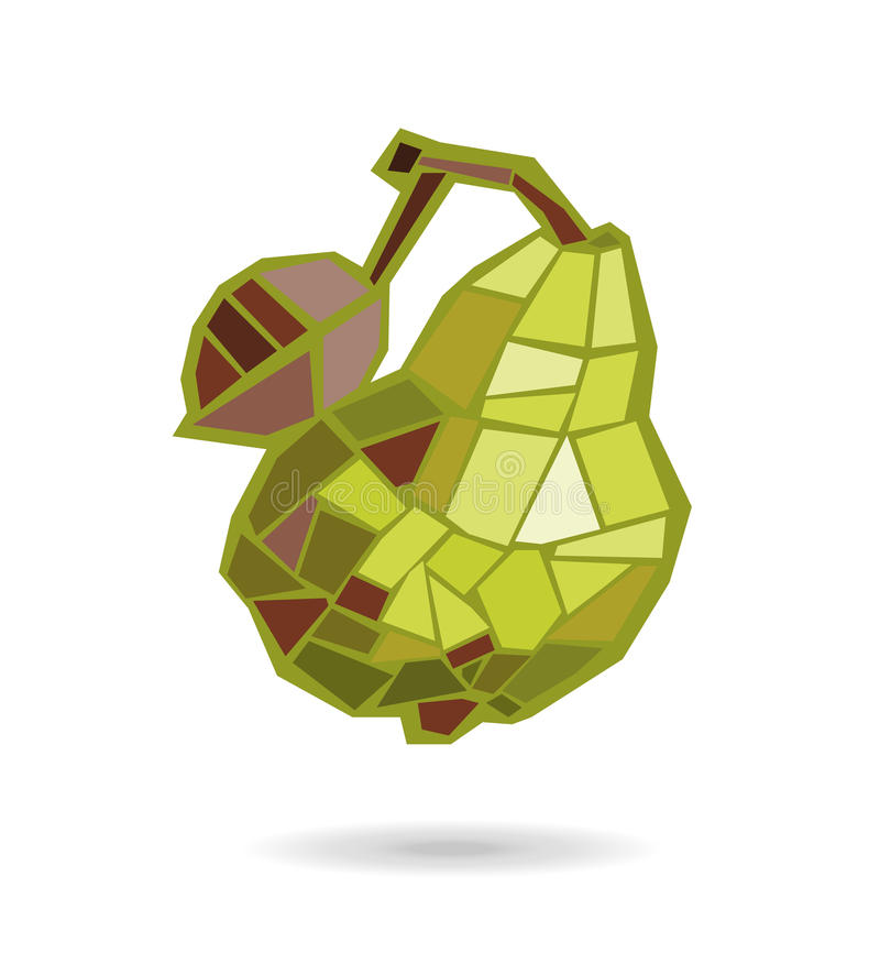 Abstracte geometrische gele peer Elegante illustratie vector illustratie