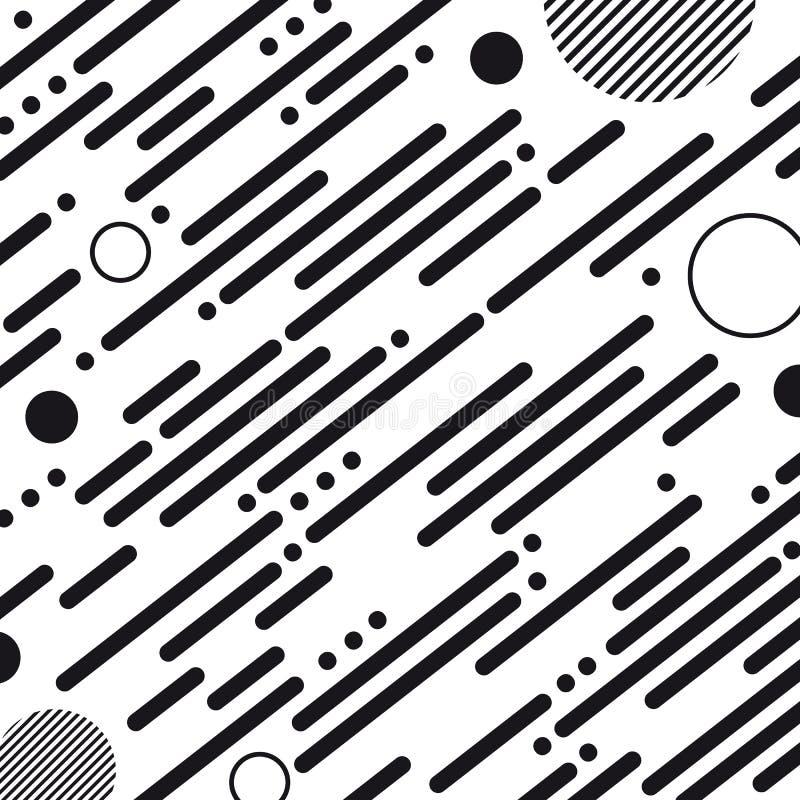 Abstracte Geometrische Gestreepte Achtergrond - Vectorillustratie op Witte Achtergrond vector illustratie