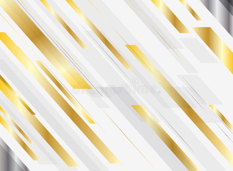 Abstracte geometrische gouden de motie diagonaal van de achtergrond gradiënt heldere kleur glanzende luxestijl Malplaatje voor br royalty-vrije illustratie