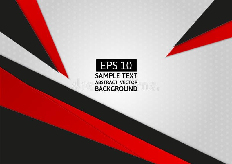 Abstracte geometrische Grijze, Zwarte en Rode kleur met exemplaarruimte voor Bedrijfsconcept, vectorillustratieachtergrond stock illustratie