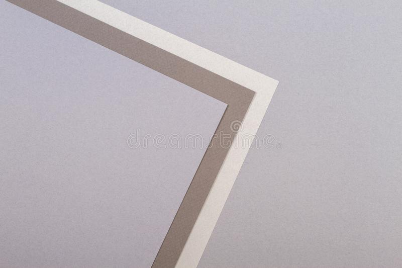 Abstracte geometrische het document van de vorm grijze bruine kleur achtergrond royalty-vrije stock afbeelding