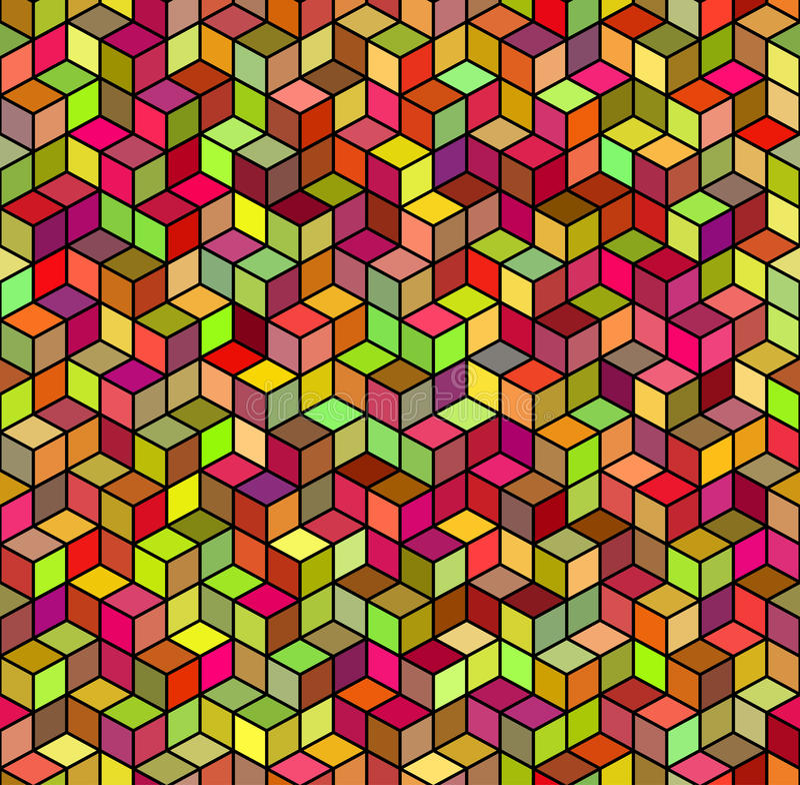 Abstracte geometrische kleuren naadloze achtergrond stock illustratie
