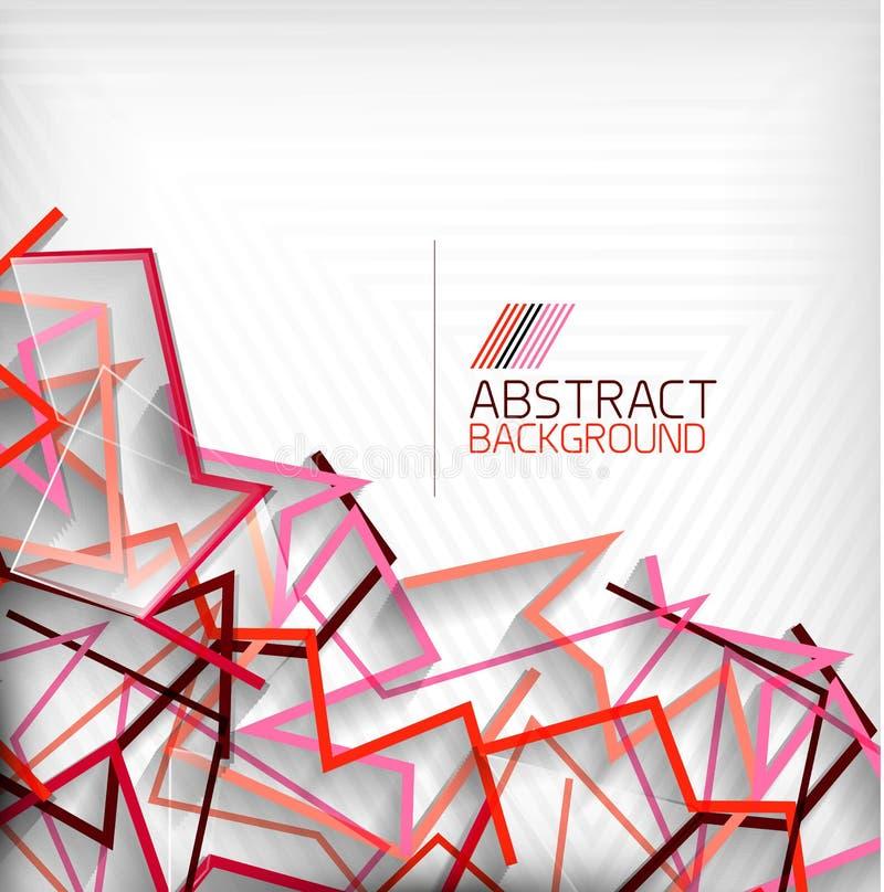 Abstracte geometrische kleurrijke lijnen als achtergrond stock illustratie