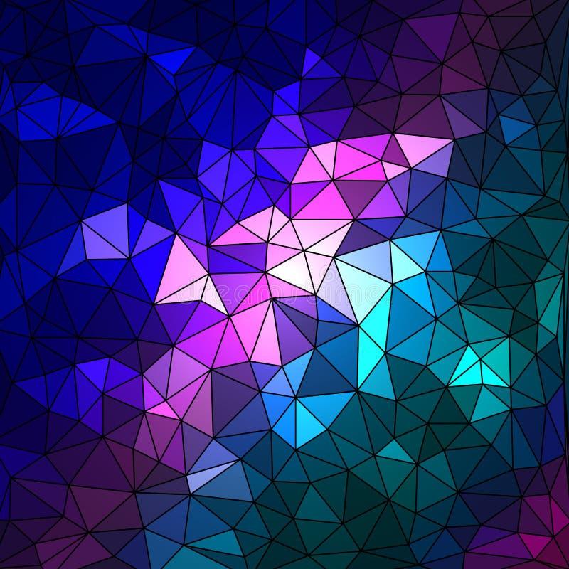 Abstracte geometrische multicolored achtergrond die uit driehoekige elementen bestaan royalty-vrije illustratie