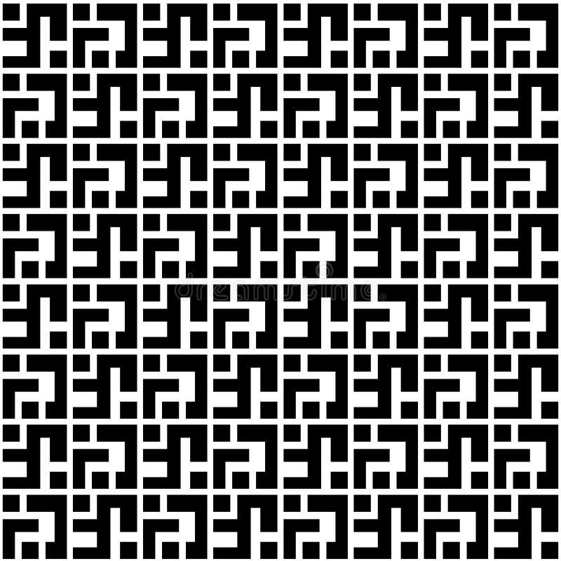 Abstracte geometrische patern met vierkanten Een naadloze vector backgr royalty-vrije illustratie