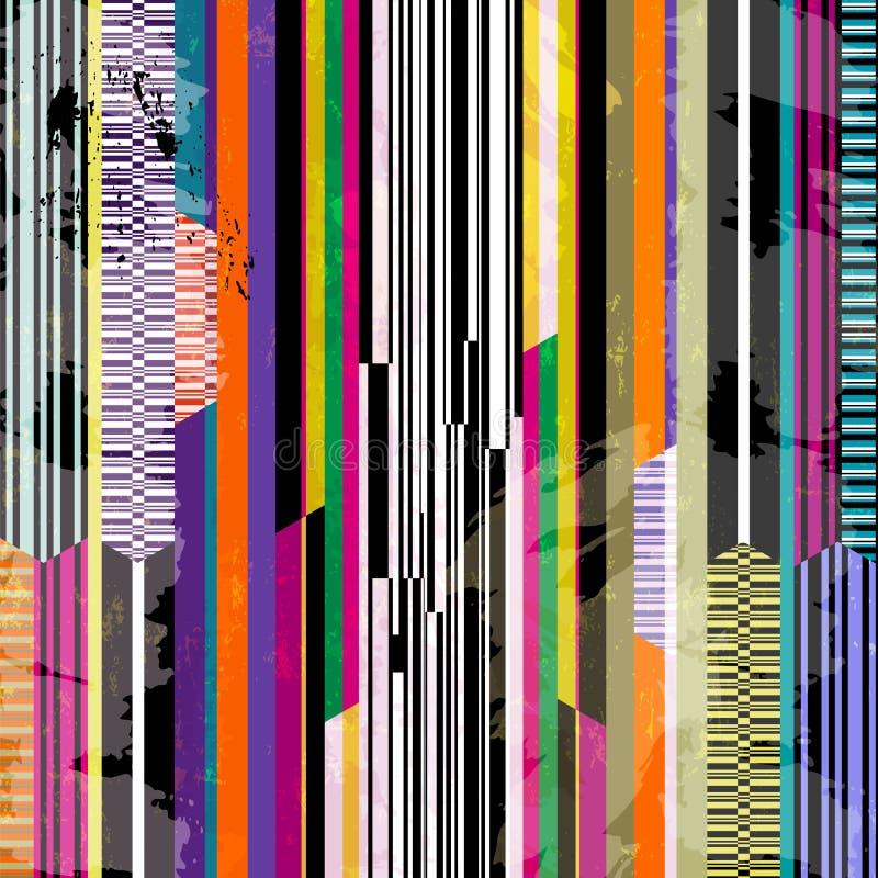 Abstracte geometrische patroonachtergrond, met strepen, slagen en vector illustratie