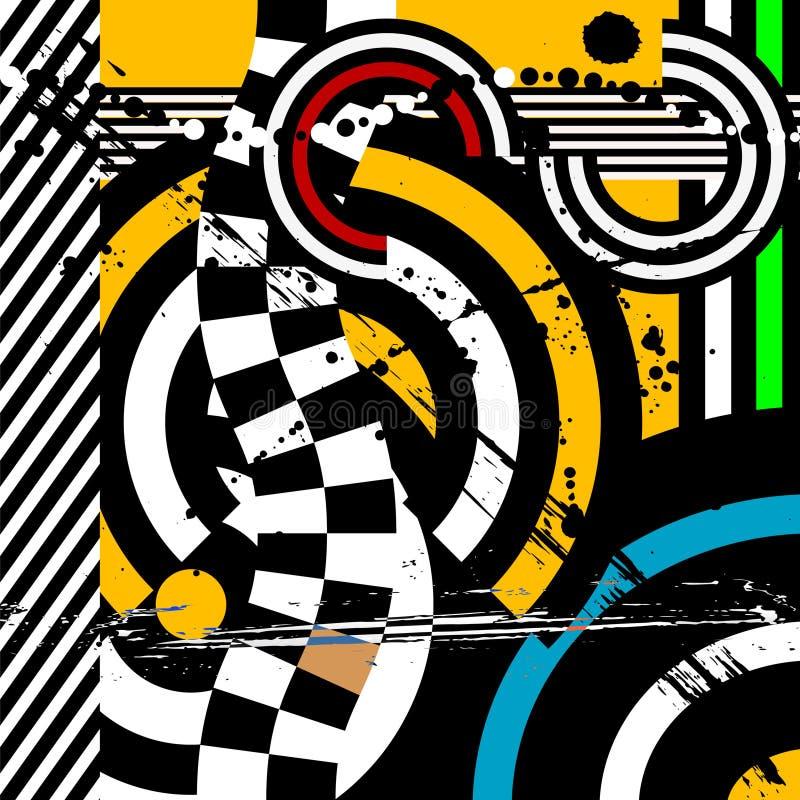 Abstracte geometrische pop-artvector, achtergrond, ontwerp elemnt stock illustratie