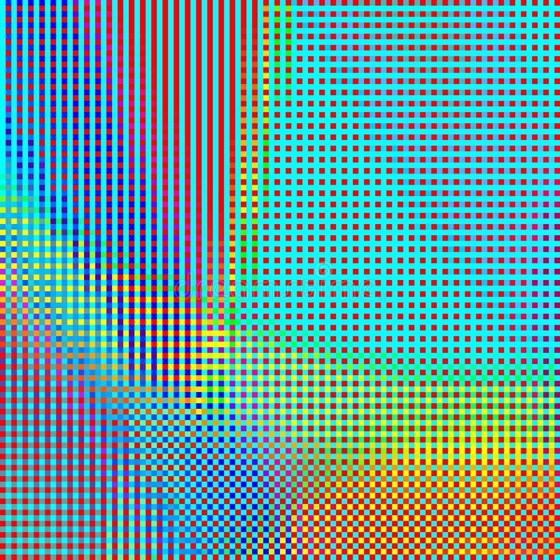 Abstracte geometrische regenboog geruite achtergrond 01 stock illustratie