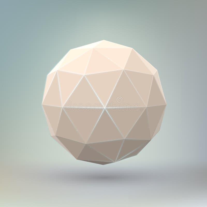 Abstracte geometrische sferische vorm. stock illustratie