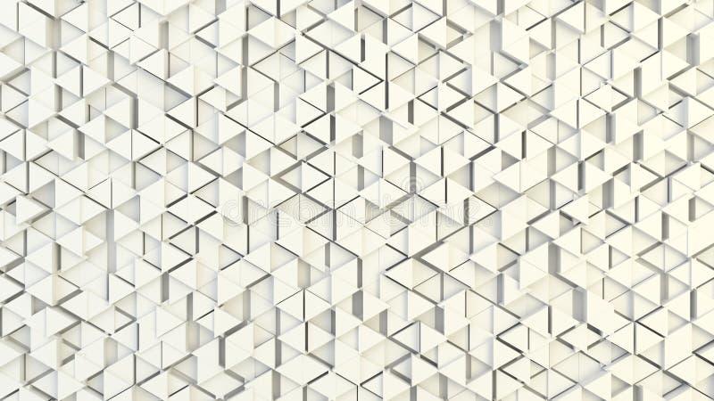Abstracte geometrische textuur van willekeurig uitgedreven driehoeken royalty-vrije stock fotografie