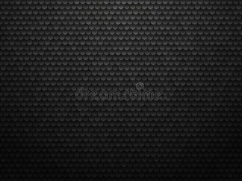 Abstracte geometrische veelhoekenachtergrond, zwarte metaaltextuur stock illustratie