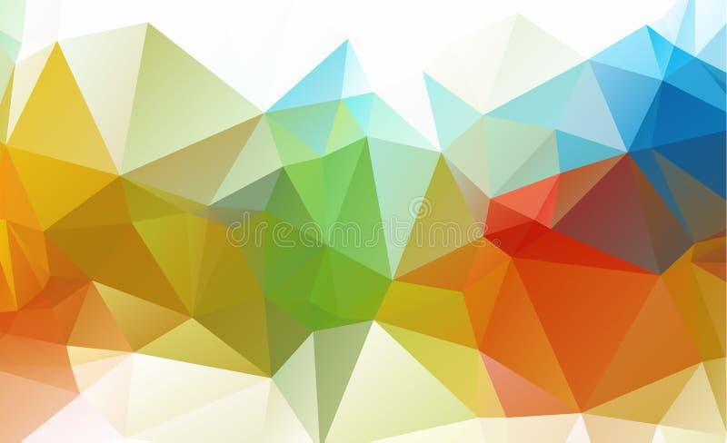 Abstracte Geometrische volledige Kleur als achtergrond stock illustratie