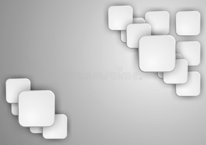 Abstracte geometrische vorm van grijze kubussen royalty-vrije illustratie