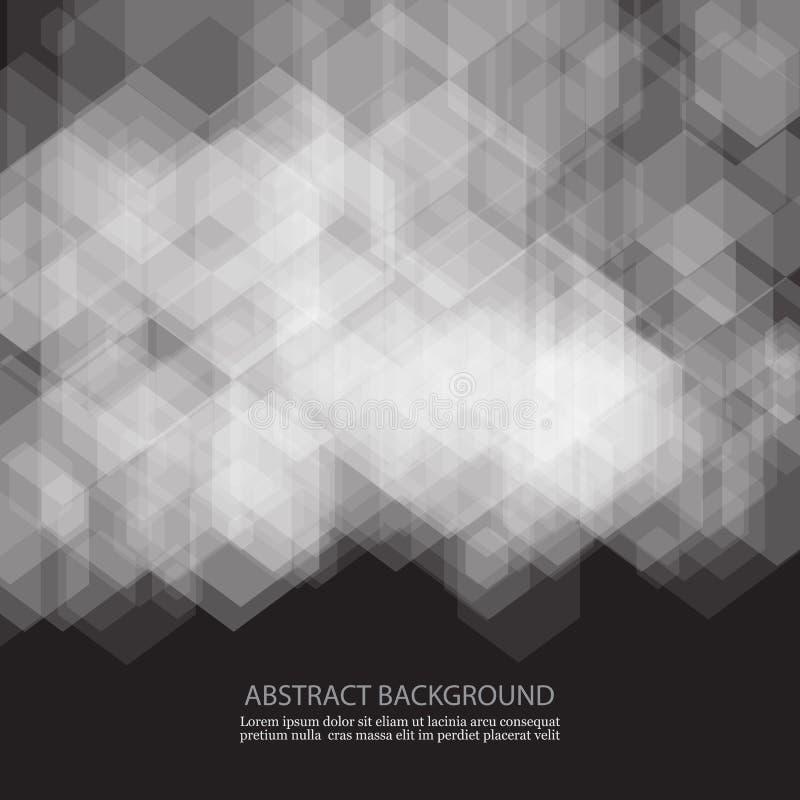 Abstracte geometrische vorm van grijze kubussen Witte vierkanten vector illustratie