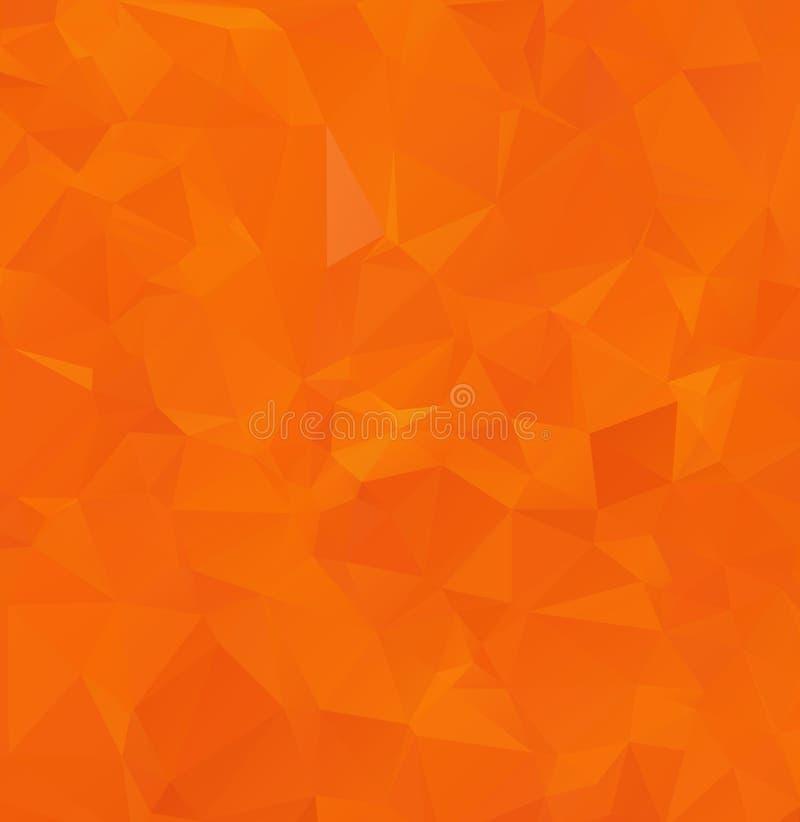 Abstracte geometrische warme gele achtergrond van driehoekige veelhoeken Vector illustratie Retro heldere in patroon van de mozaï stock illustratie