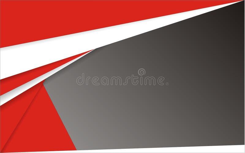 Abstracte Geometrische witte rode en zwarte achtergrond stock foto