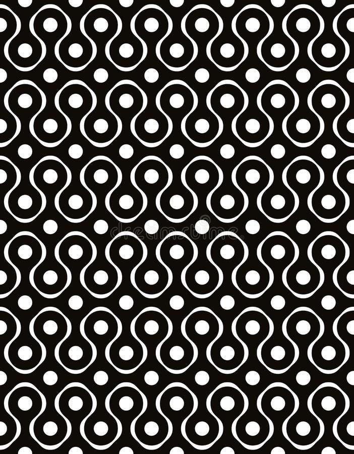 Abstracte geometrische zwart-witte achtergrond, naadloos patroon, vector illustratie