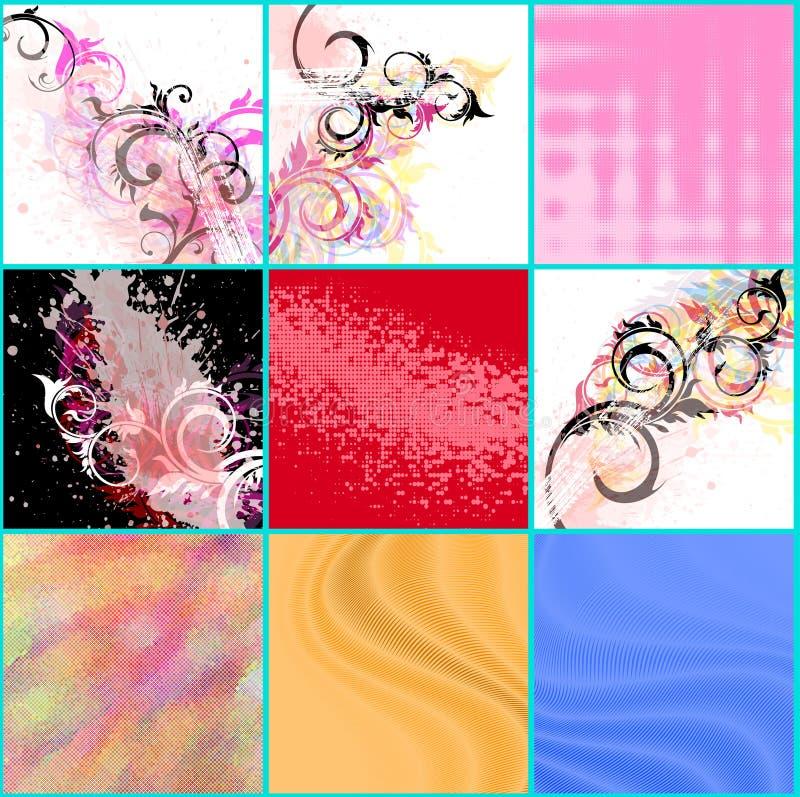 Abstracte geplaatste achtergronden stock illustratie