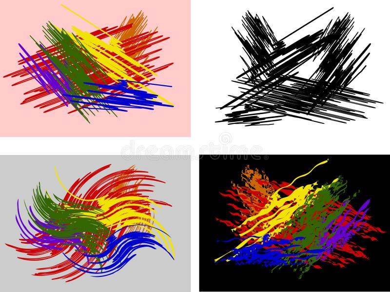 Abstracte geplaatste achtergronden vector illustratie