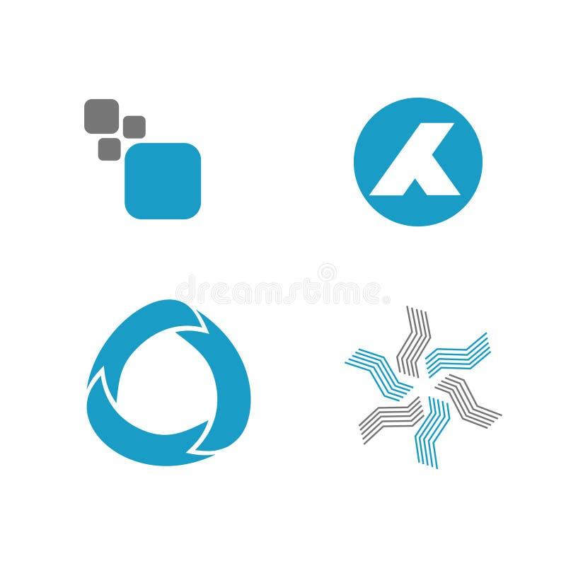 Abstracte Geplaatste Symbolen Stock Foto