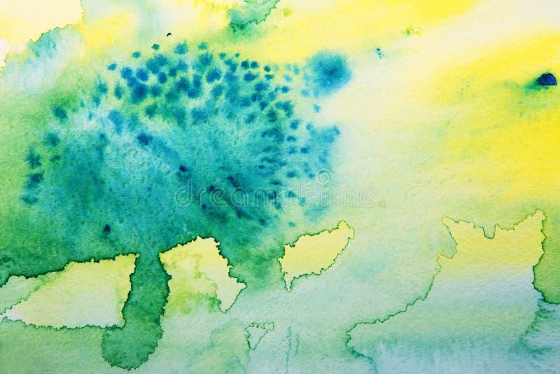 Abstracte geschilderde hand vector illustratie