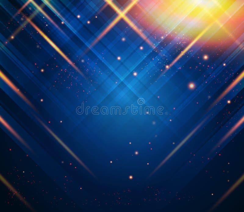 Abstracte gestreepte achtergrond met lichteffecten Vector beeld vector illustratie