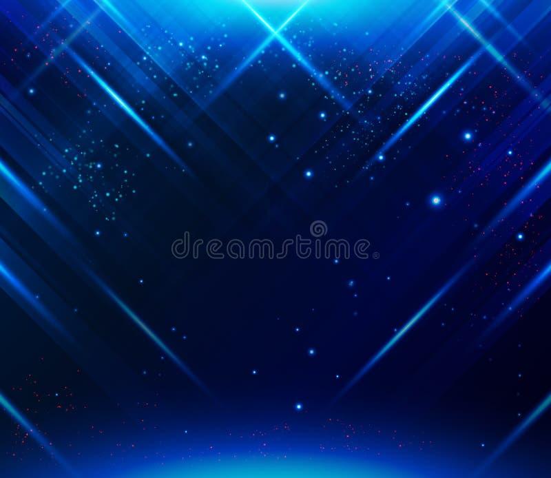 Abstracte gestreepte achtergrond met lichteffecten Vector beeld royalty-vrije illustratie