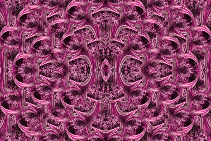 Abstracte geweven achtergrond met golf en wervelingen in purple Art vector illustratie