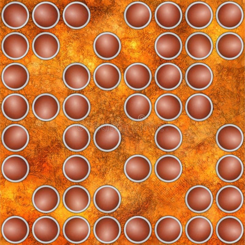 Abstracte geweven achtergrond met verspreide cirkelornamenten royalty-vrije illustratie