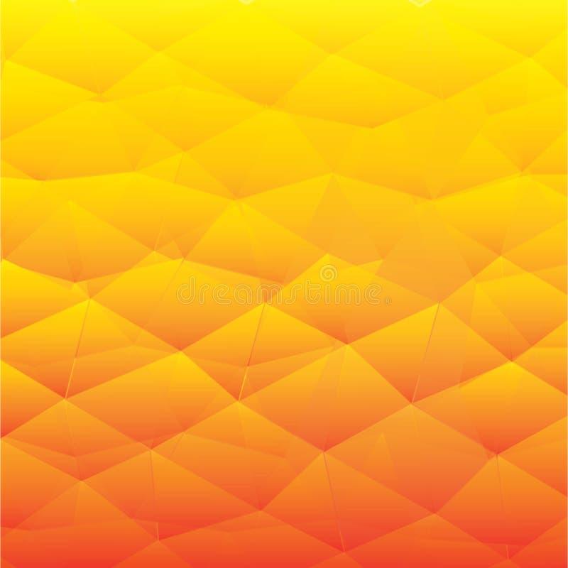 Abstracte geweven veelhoekige achtergrond - Het vector vector illustratie