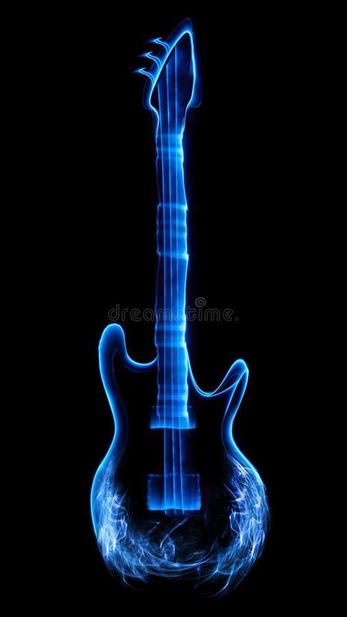 Abstracte gitaar stock illustratie