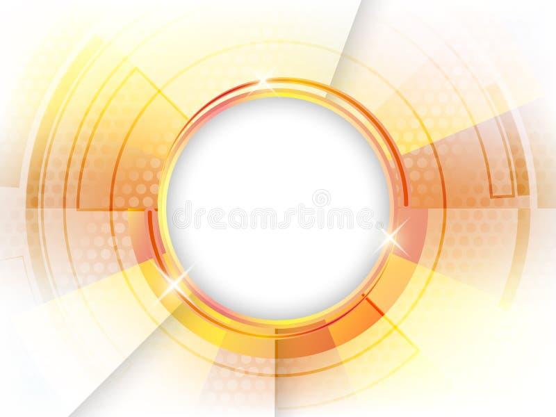 Abstracte glanzende cirkelachtergrond vector illustratie