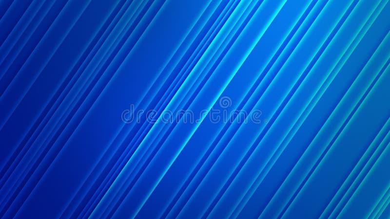 Abstracte Glanzende Diagonalen op de Blauwe Achtergrond van Gradated vector illustratie