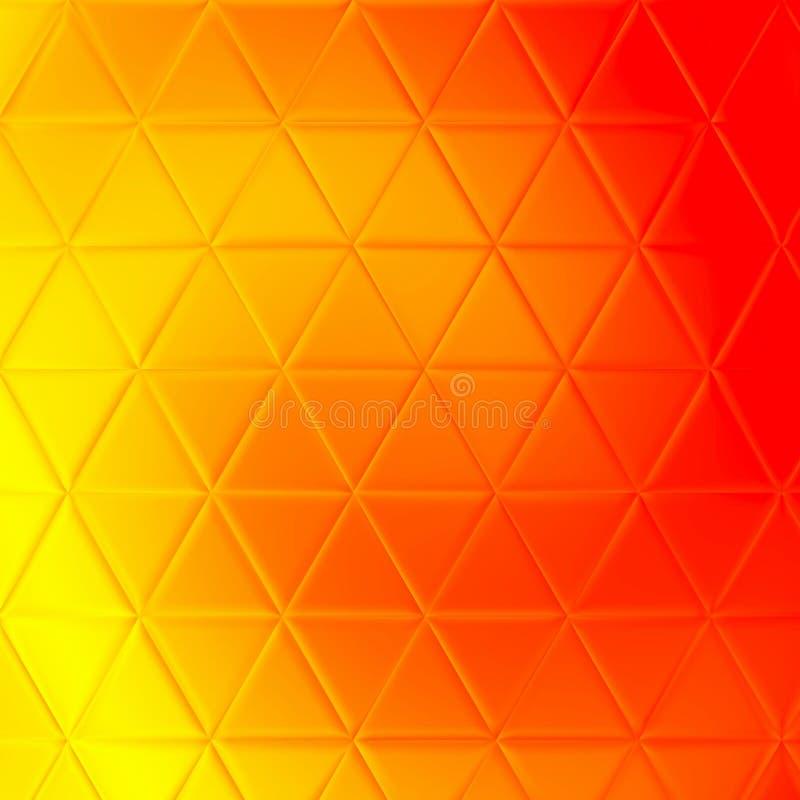 Abstracte glanzende gouden de luxeachtergrond van het driehoekspatroon stock illustratie